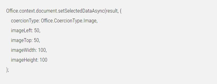 Infografik: Der Beispielcode lässt mittels einer Microsoft Office App ein Image in einen Platzhalter einfügen.