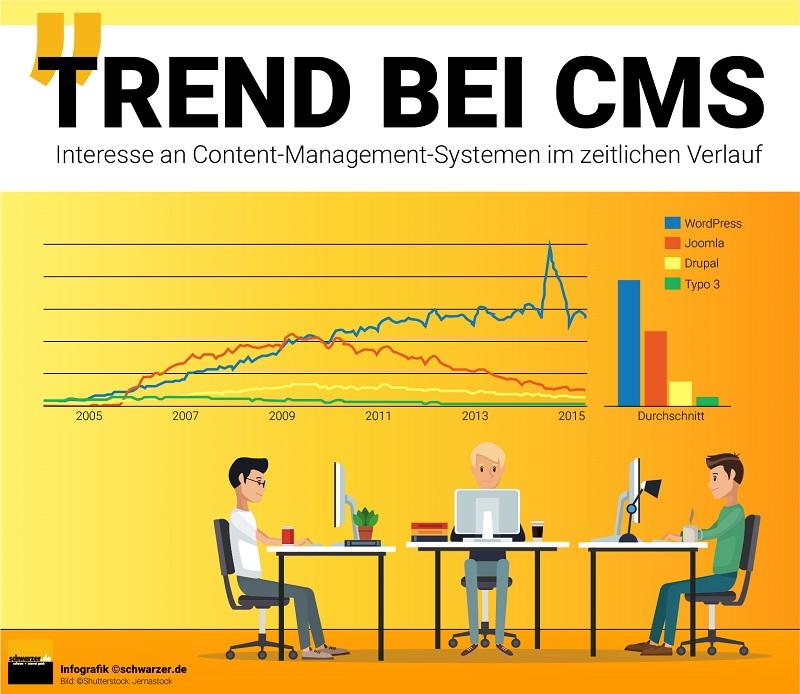 Die Qual der Wahl unter den CMS ist gewaltig. Es gibt mehrere hundert Programme auf dem Markt, die verschiedene Nutzergruppen ansprechen.